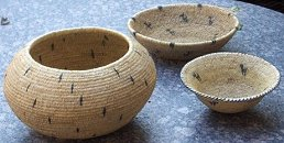 Willow baskets, upright